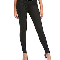 Jessica Simpson Coated Super-Skinny Jeans - Black