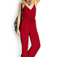 Wide-Leg Surplice Jumpsuit