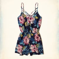 Girls Strappy Woven Romper | Girls Dresses & Rompers | HollisterCo.com