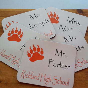 Personalized Mousepad! Great for TEACHER gifts!!