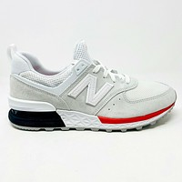 New Balance 574 Sport Tier One White Black Red MS574AW Mens Sneakers