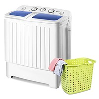 Small 110v Compact Twin Tub Washing Machine Washer Spinner