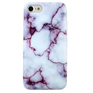 Purple Streak Marble iPhone Case
