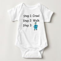 Crawl Walk Police Officer Baby Bodysuit
