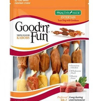Healthy Hide Good N Fun Pork/Beef & Chicken Kabob 4 oz