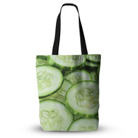 "Cucumber Vegetable Food Print Unique Mom Grocery Diaper Beach Tote Bag 18""x18"""
