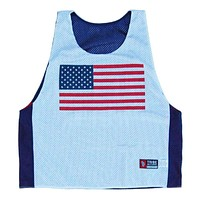 Let's Roll America Lacrosse Pinnie