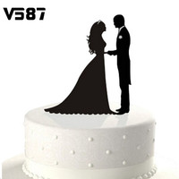Personalized Wedding Cake Black Topper Acrylic Custom Name Cake Topper Custom Mr & Mrs Bilayer Casamento Structure