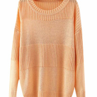 Detailed Ribbed Knit Long Sleeves Sweater
