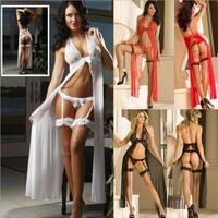 Cute Hot Deal On Sale Lace Sexy Sleepwear See Through Dress Exotic Lingerie [6595913411]