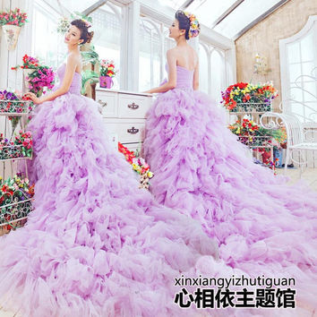 2016 new free shipping wedding dresses sexy women girl good wedding dress gown sy115