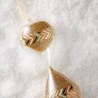 Painted Hourglass Ornament