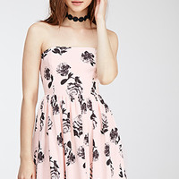 Strapless X-Ray Roses Dress