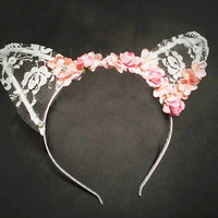 handmade Lace flower headband from MoLa_MoLa