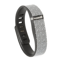 Black and White Greek Key Fitbit Flex™ Compatible Wristband