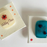 Holiday Canvas and Glass Magnets