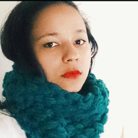 Crochet cowl/ infinty scarf, Crochet cowl in teal, Chunky blue scarf - The Bubble cowl