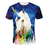 3D Unicorn printing t shirts