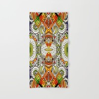 Seeing Tribe Hand & Bath Towel by Ducky B