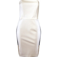 Ivory Dress with Black Insets