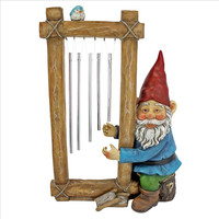 Park Avenue Collection Ringing His Chimes Garden Gnome Statue