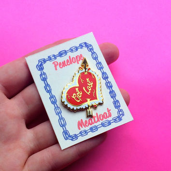 "1.3"" GET LOST Valentine Lapel Pin"