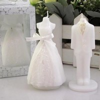 Romantic Bride Candles Bridegroom Bride Shape Scented Candles Wedding Party Boxed Gift 2Pcs [7983316295]
