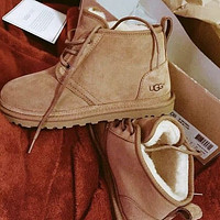 UGG Fashion New Men's Snow Boots Shoes Brown