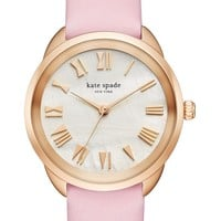 kate spade new york crosstown leather strap watch, 34mm   Nordstrom
