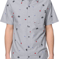 Empyre King Keg Grey Button Up Shirt