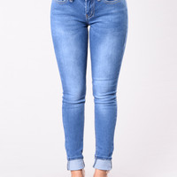 Love For You Jeans - Medium Blue