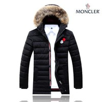Moncler winter plus velvet down jacket Fashion black coat