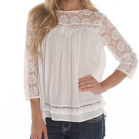 Women's Lace Baby Doll Top