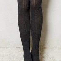 Ribbed Sweater Tights by Pure + Good Black S/m Sweaters
