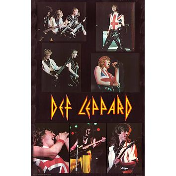 Poster: Def Leppard Live Collage 22x34