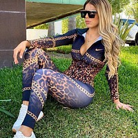 Nike new style women's sexy tight sportswear and casual wear two-piece suit