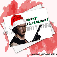 A Solo Christmas Greeting Card- Han Solo Harrison Ford Star Wars Character Xmas Card