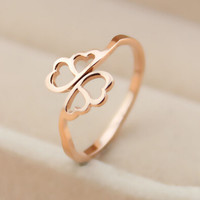 womens 14k rose gold wings ring adjustable tail ring gift-134