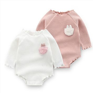 Cute Baby Girls Clothes Spring Autumn Cotton Long Sleeved Bodysuit Baby Bag Fart Jumpsuit Sibling Outfits Newborn Infant Clothes