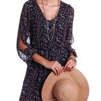 Daisy Chain Floral Chiffon Dress by Charlotte Russe