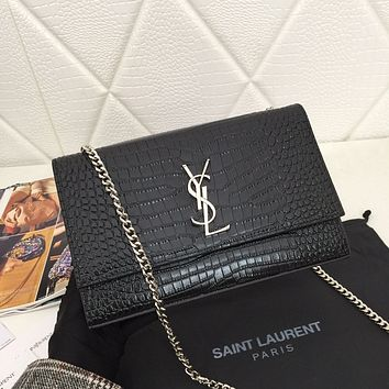 YSL SAINT LAURENT WOMEN'S CLASSIC LEATHER HANDBAG CHAIN SHOULDER BAG