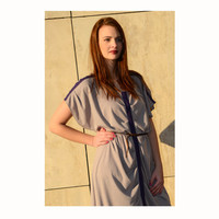 SALE! Light brown purple dress