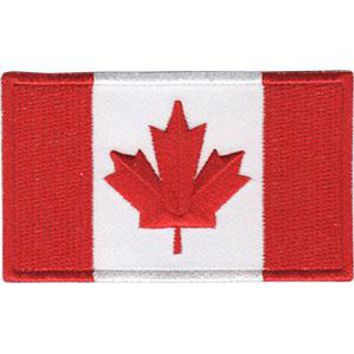 Canadian Flag Iron-On Patch Canada Maple Leaf