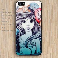 iPhone 6 case dream little mermaid shells starfish iphone case,ipod case,samsung galaxy case available plastic rubber case waterproof B170