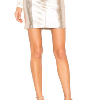 MLML Above The Knee Skirt in Pink Silver | REVOLVE