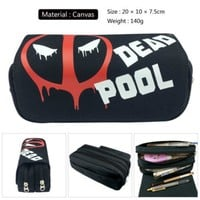 Marvel Deadpool Pencil Case Pen Bag Make up Cosmetic Bag Canvas Comics Student Stationery Bags Gift