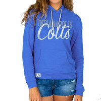 Indianapolis Colts Junk Food Women's Sunday Pullover Hoodie – Royal Blue