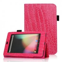 FINTIE (Crocodile Magenta) Leather Folio Stand Case Cover (With Automatic Sleep/Wake Feature) -9 Style Options AAA