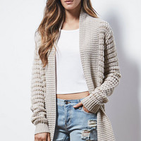 Say What Ribbed Open Front Cardigan at PacSun.com
