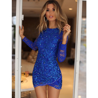 TONI LACE IN ROYAL BLUE